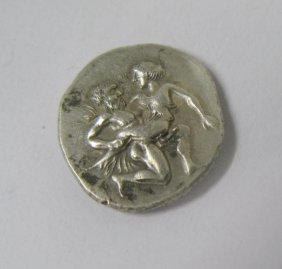 Thasos (525-463 BC) Silver Stater, Incuse Squares, Saty