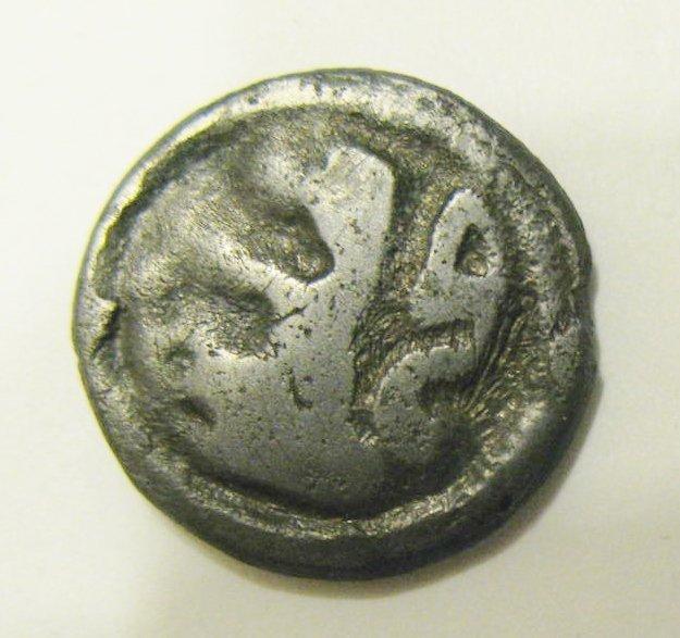 Celtic Gaul, Remi (c.100 BC), potin, running figure rig