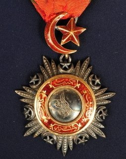 Ottoman,silver Officer's badge of Order of the Mejidie