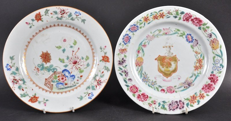 AN 18TH CENTURY CHINESE EXPORT ARMORIAL PLATE together