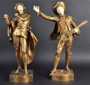 AUGUSTE MOREAU (19TH CENTURY) FRENCH A VERY GOOD PAIR