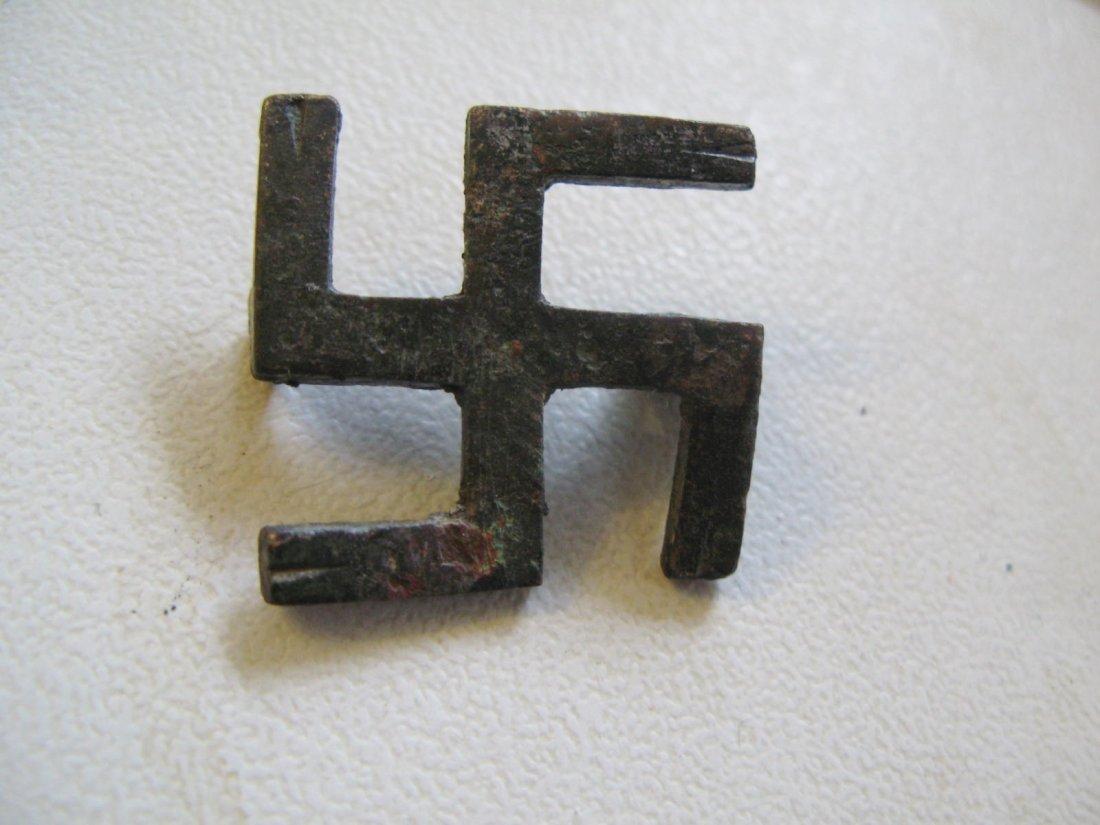 Roman Britain, 3rd century swastika toga brooch, good c