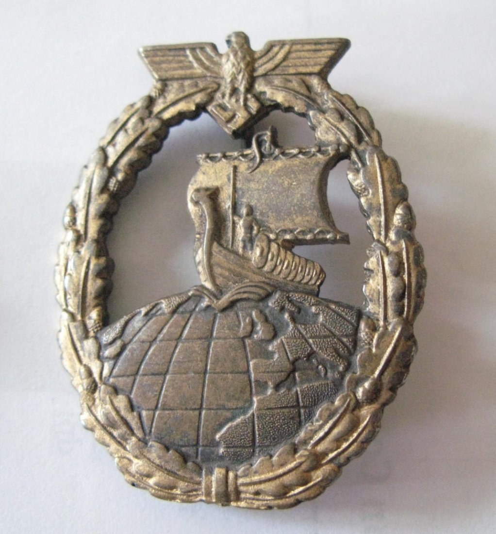 Germany, WWII Auxillery Cruiser badge, Nazi equivalent