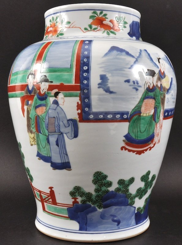 A GOOD CHINESE TRANSITIONAL STYLE PORCELAIN VASE probab