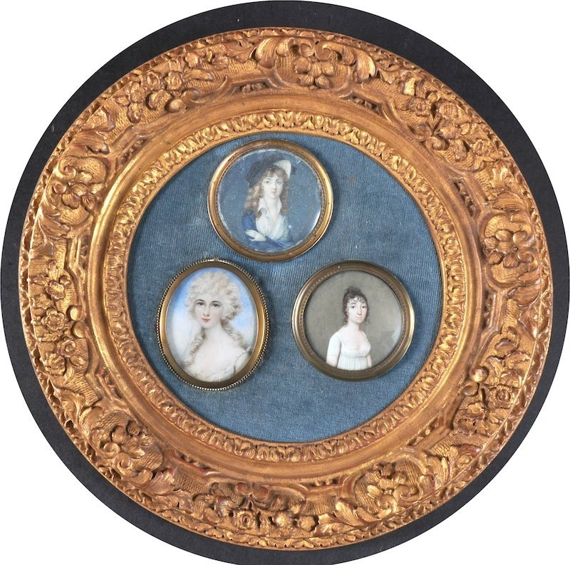 19th Century Continental School. Portraits of three Lad