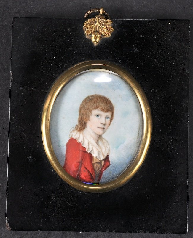 Style Of Richard Cosway (1742-1821) Portrait Of A Boy,