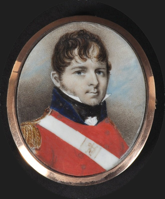 19th Century English School. Portrait of an Officer, th
