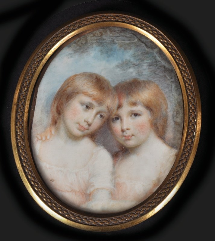 Mary Ann Knight (1776-1851) Portraits Of Two Children,