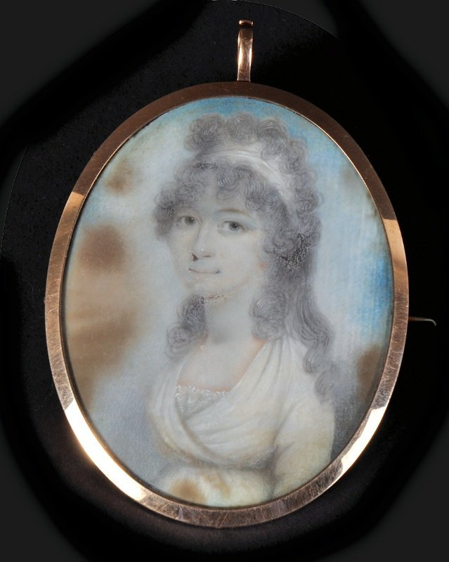 Attributed To William Thicke (1787-1814) Portrait Of A