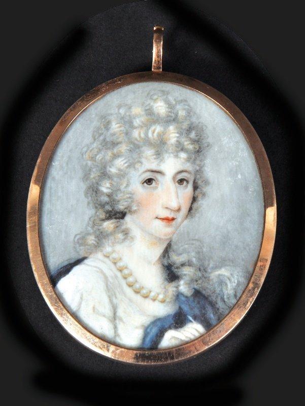 19th Century English School. Portrait of a Lady, wearin