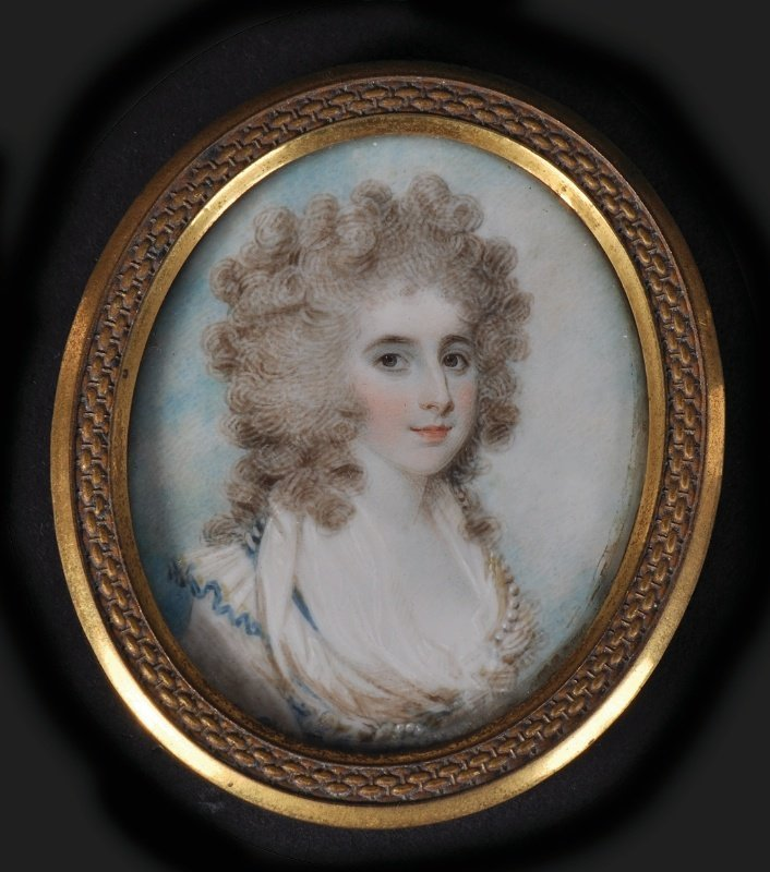 Samuel Shelley (1750-1808) Portrait Of A Lady, Wearing