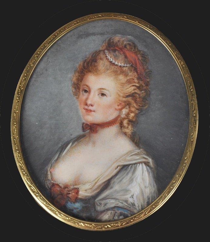 19th Century French School. Portrait of a Lady,  wearin