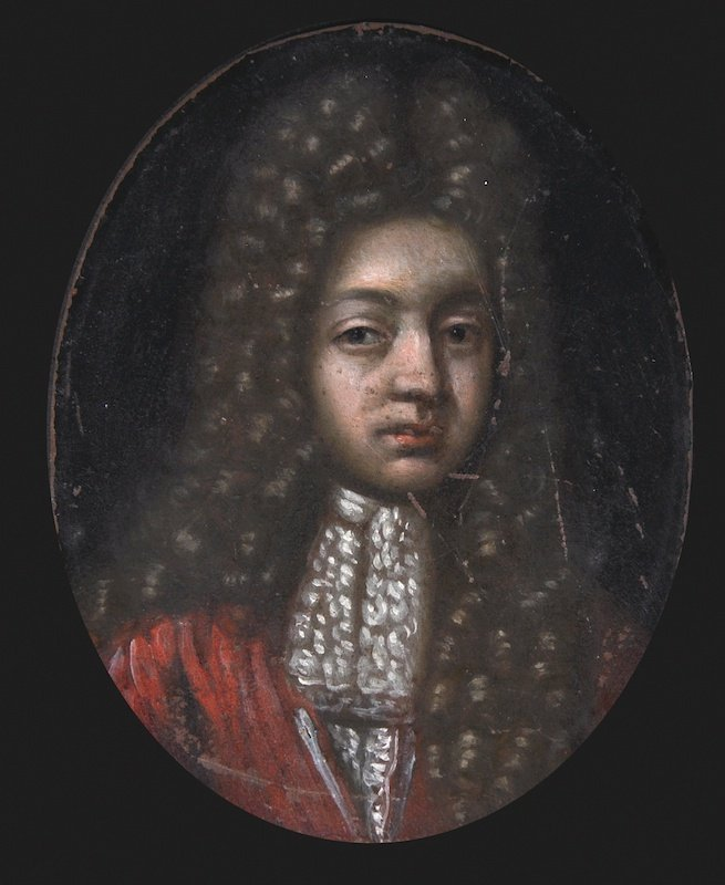 English School (c.1700) Portrait of a Gentleman, wearin
