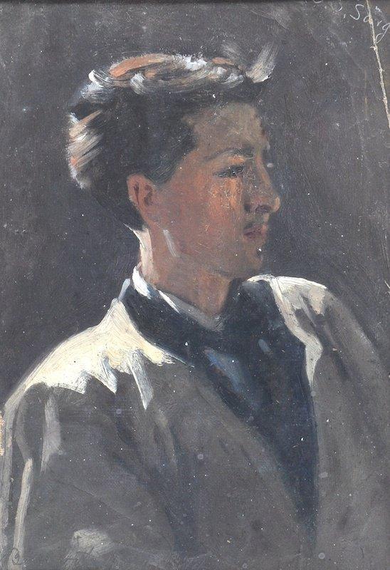 James Carroll Beckwith (1852-1917) American. Portrait o