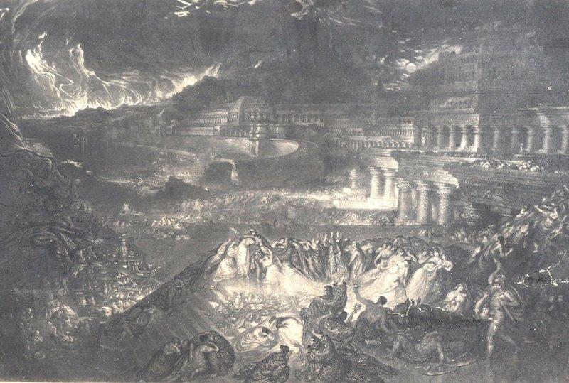 "After John Martin (1789-1854) British. ""The Fall of Nin"