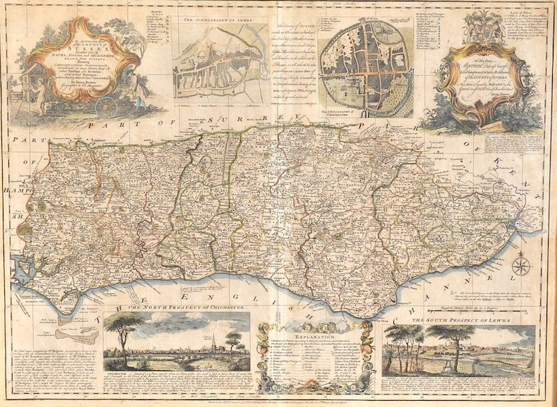 """Robert Sayer (act.1750-1780) British. """"An Accurate Map"""