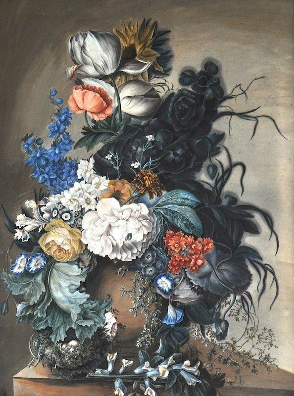 19th Century Dutch School. Still Life of Flowers in an