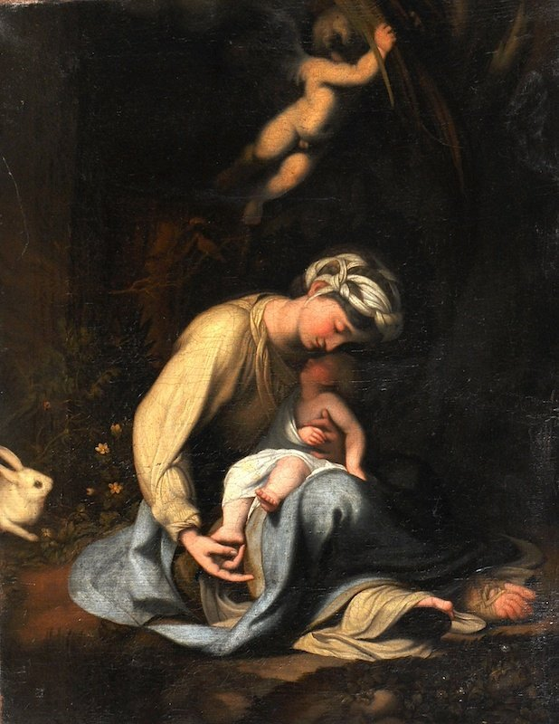 After Correggio (c.1489-1534) Italian. Madonna and Chil