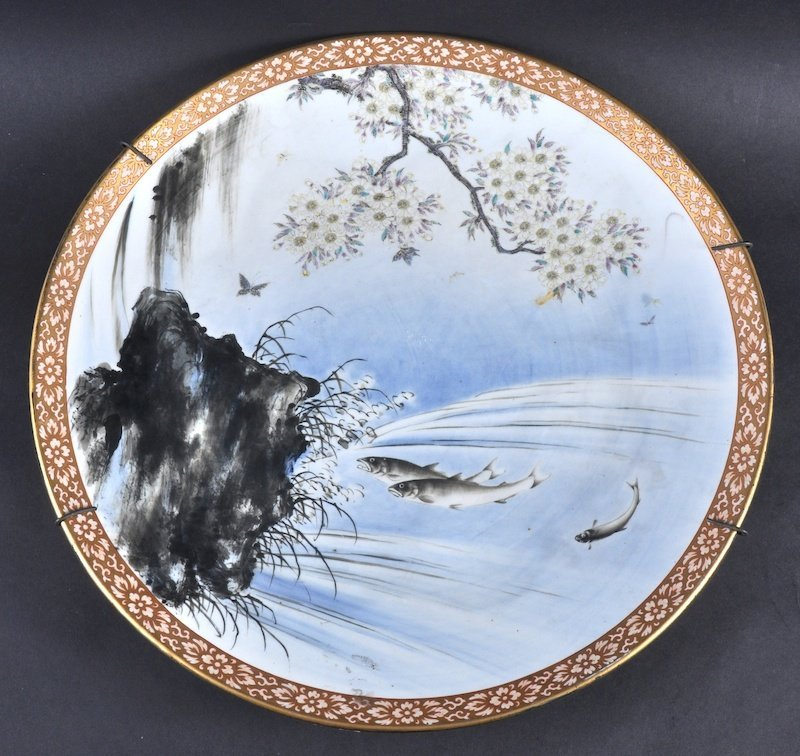 A GOOD 19TH CENTURY JAPANESE MEIJI PERIOD PORCELAIN CHA