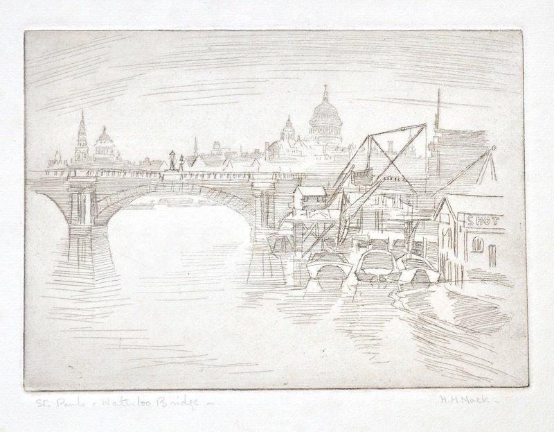 H… H… Mack (20th Century) British. A Folio of Etchings,