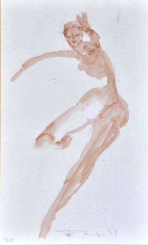 Feliks Topolski (1907-1989) Polish. A naked Lady