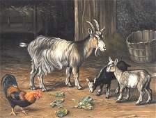 Manner of Edgar Hunt 18761953 British A Farm scene