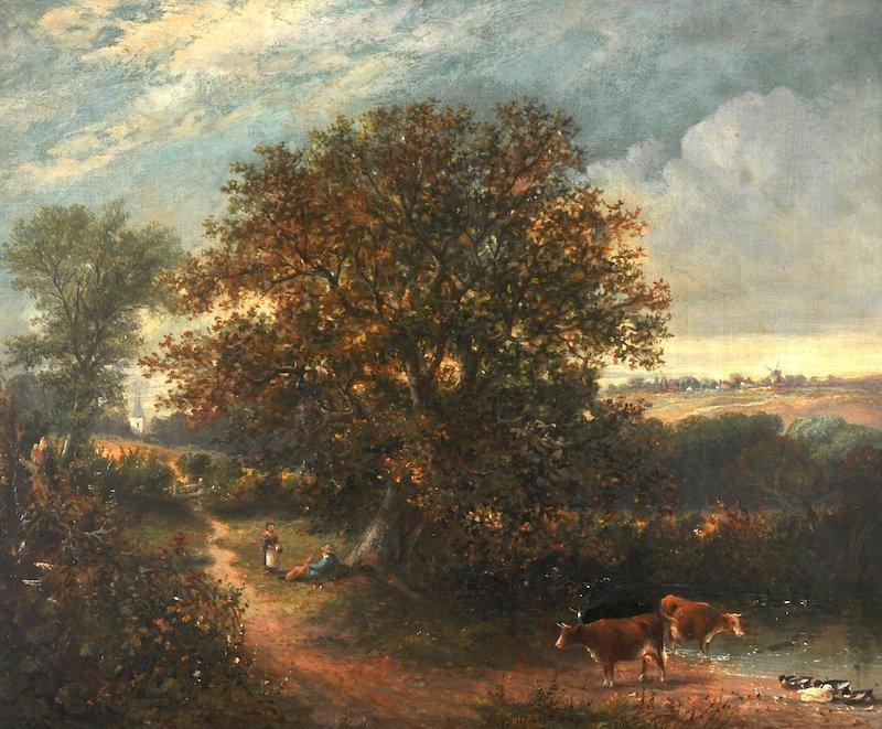 William George Meadows (c.1825-c.1901) British. A river