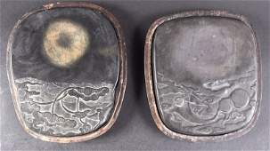 AN EARLY 20TH CENTURY CHINESE CASED INKSTONE together