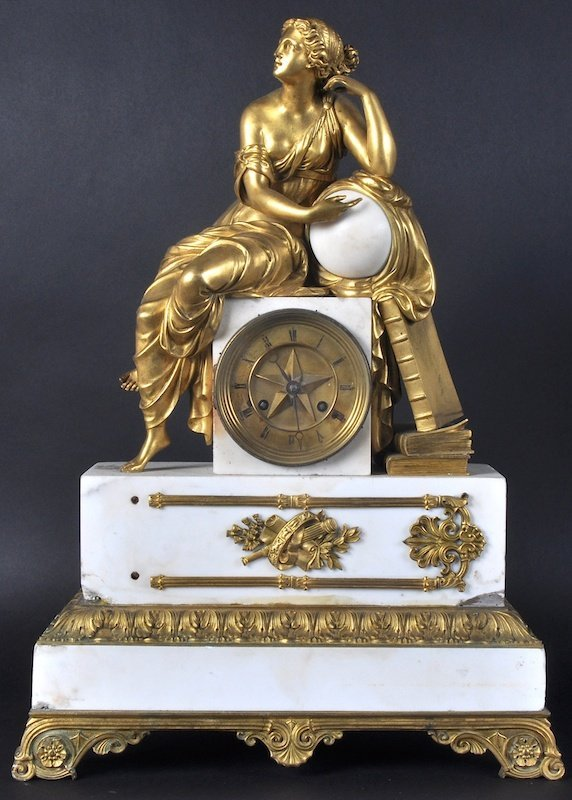 A GOOD 19TH CENTURY FRENCH WHITE MARBLE AND ORMOLU