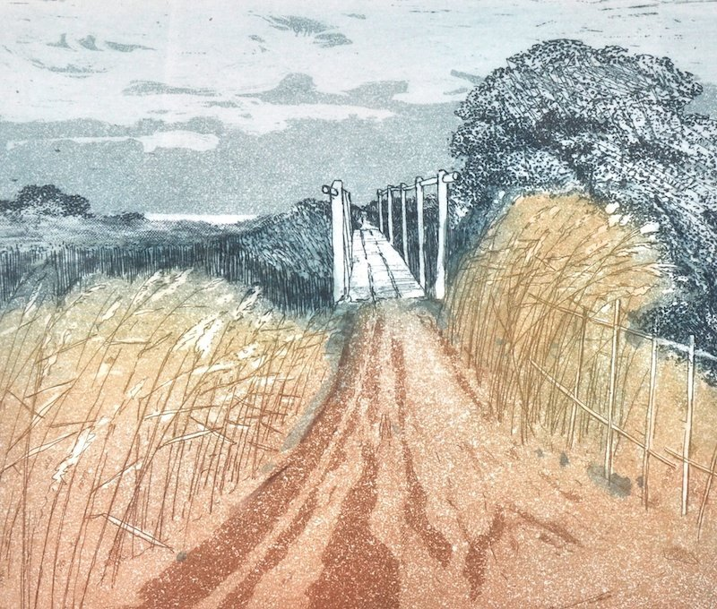 Charles Bartlett (1921-    ) British. 'The Footbridge',