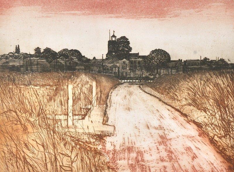 Charles Bartlett (1921-    ) British. 'Wivenhoe', Print