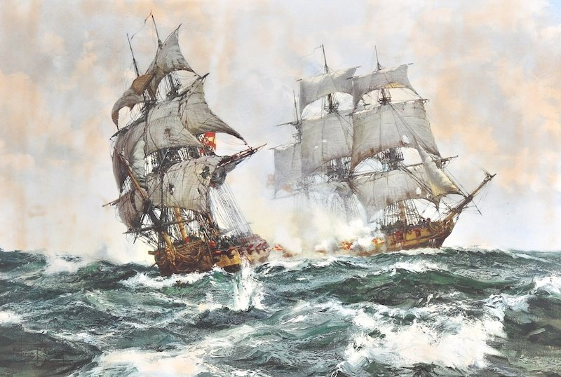 After Montague Dawson (1895-1973) British. Clippers in