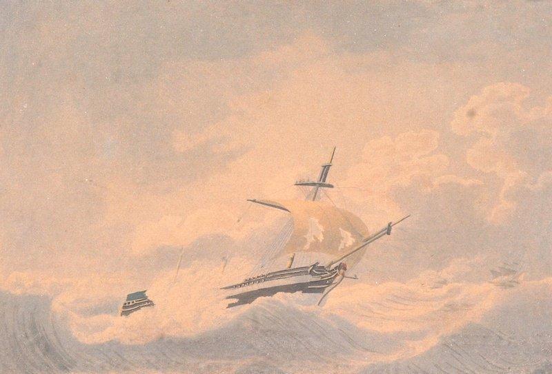 19th Century English School. A Clipper in full sail,