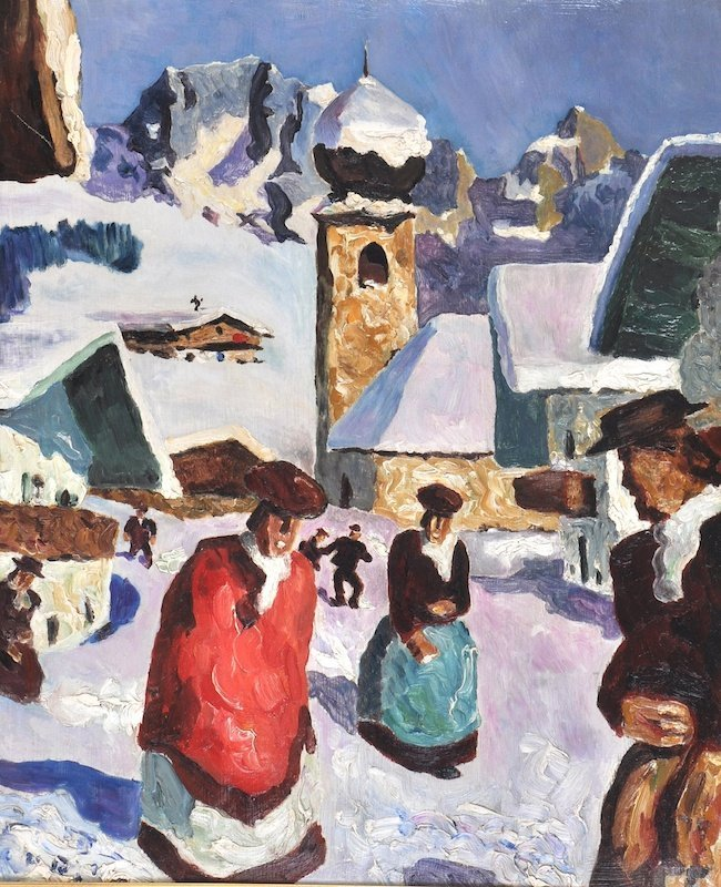 Alfons Walde (1891-1958) Austrian. 'Aurach, Kitzbuhel',