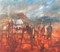 "Hugh David Sawrey (1923-1999) Australian. ""The Mountain"