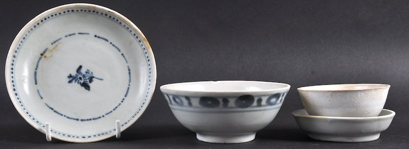 A CHINESE TEK SING CARGO CIRCULAR BOWL together with
