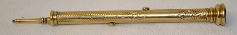 AN S. MORDEN & CO ENGRAVED PROPELLING PENCIL AND PEN,