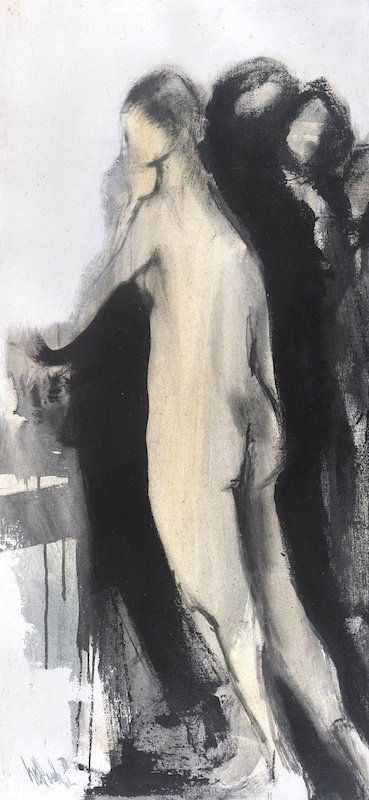 Gino Hollander (b.1924) American. A Standing Female