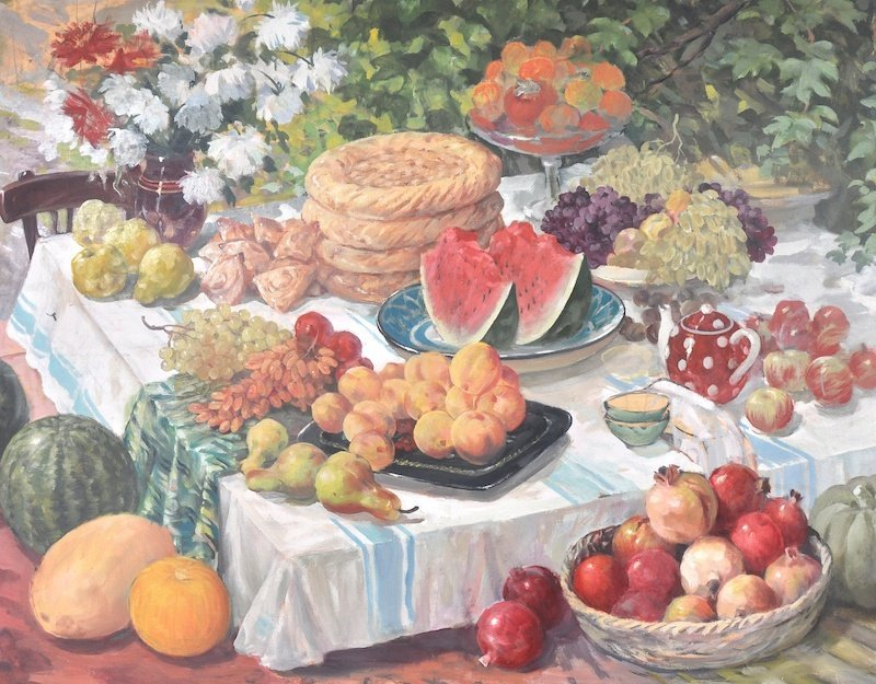 20th Century Russian School.  Still Life of fruit,