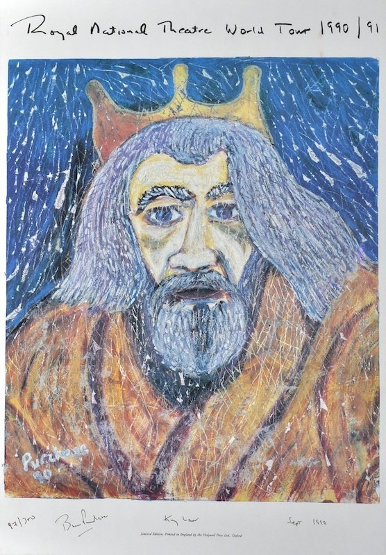 Bruce Purchase (1938-2008) British. 'King Lear', Royal