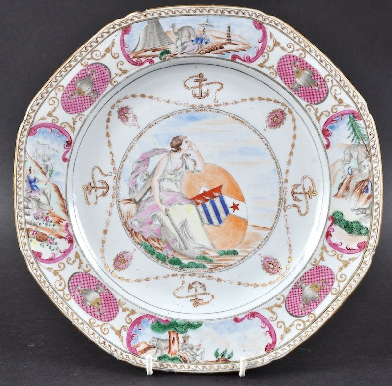 A RARE 18TH CENTURY CHINESE EXPORT 'EUROPEAN SUBJECT'