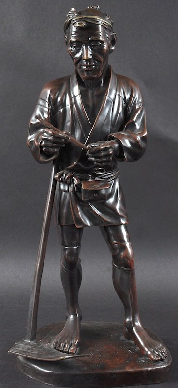 AN EARLY 20TH CENTURY JAPANESE MEIJI PERIOD BRONZE