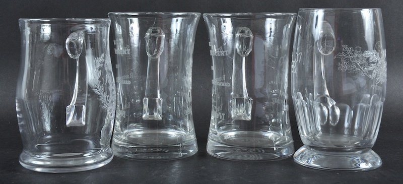 FOUR COMMEMORATIVE BEAKERS, Coronation 1937.