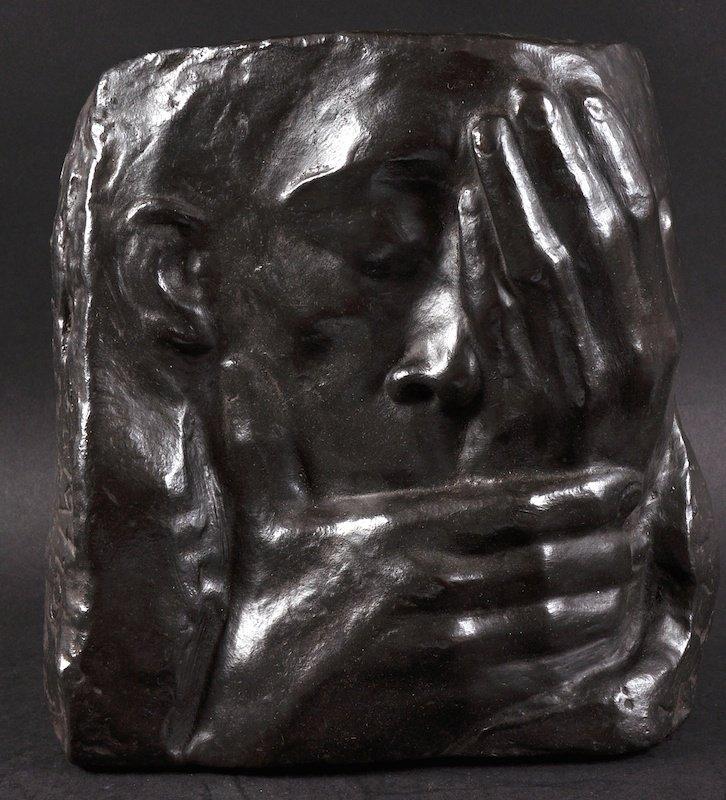 AFTER KATHE KOLLWITZ (1867-1945) GERMAN A GOOD BRONZE