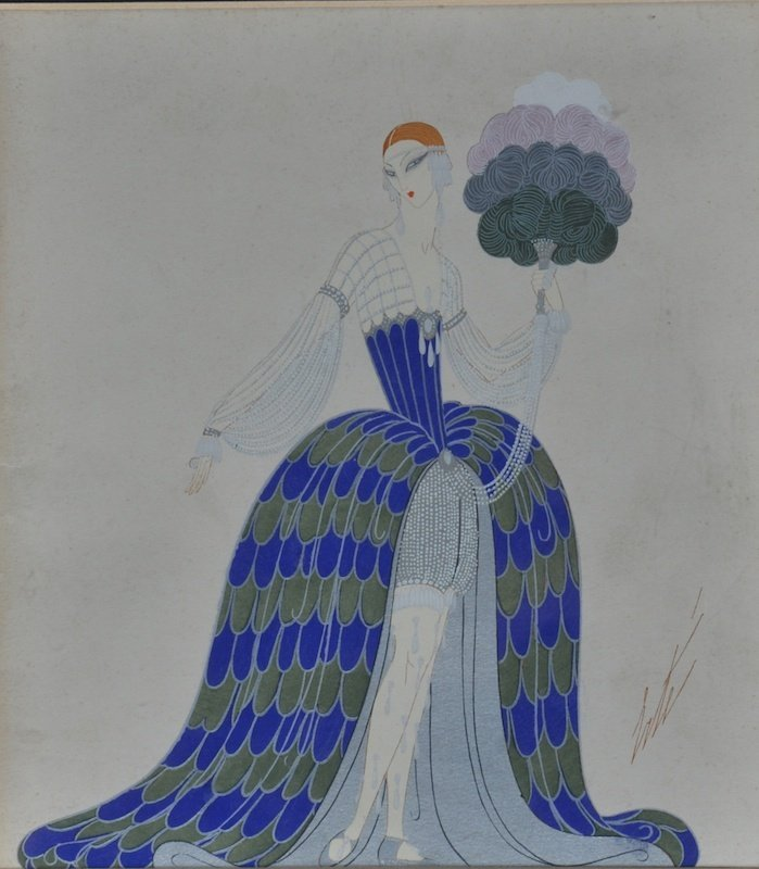 "Romain de Tirtoff  ""Erte"" (1892-1990) French. A Costume"