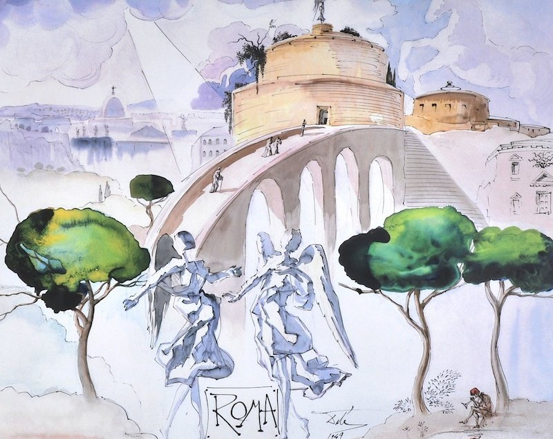 "After Salvador Dali (1904-1989) Spanish. ""Naples 1949"","