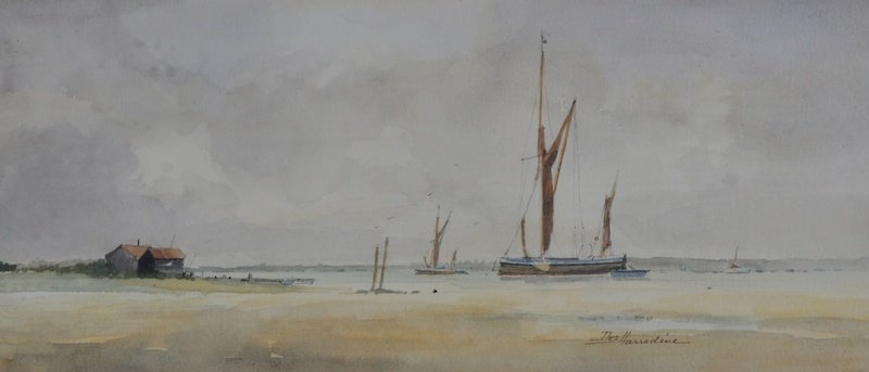 Des Harradine (1927-    ) British. An Estuary Scene