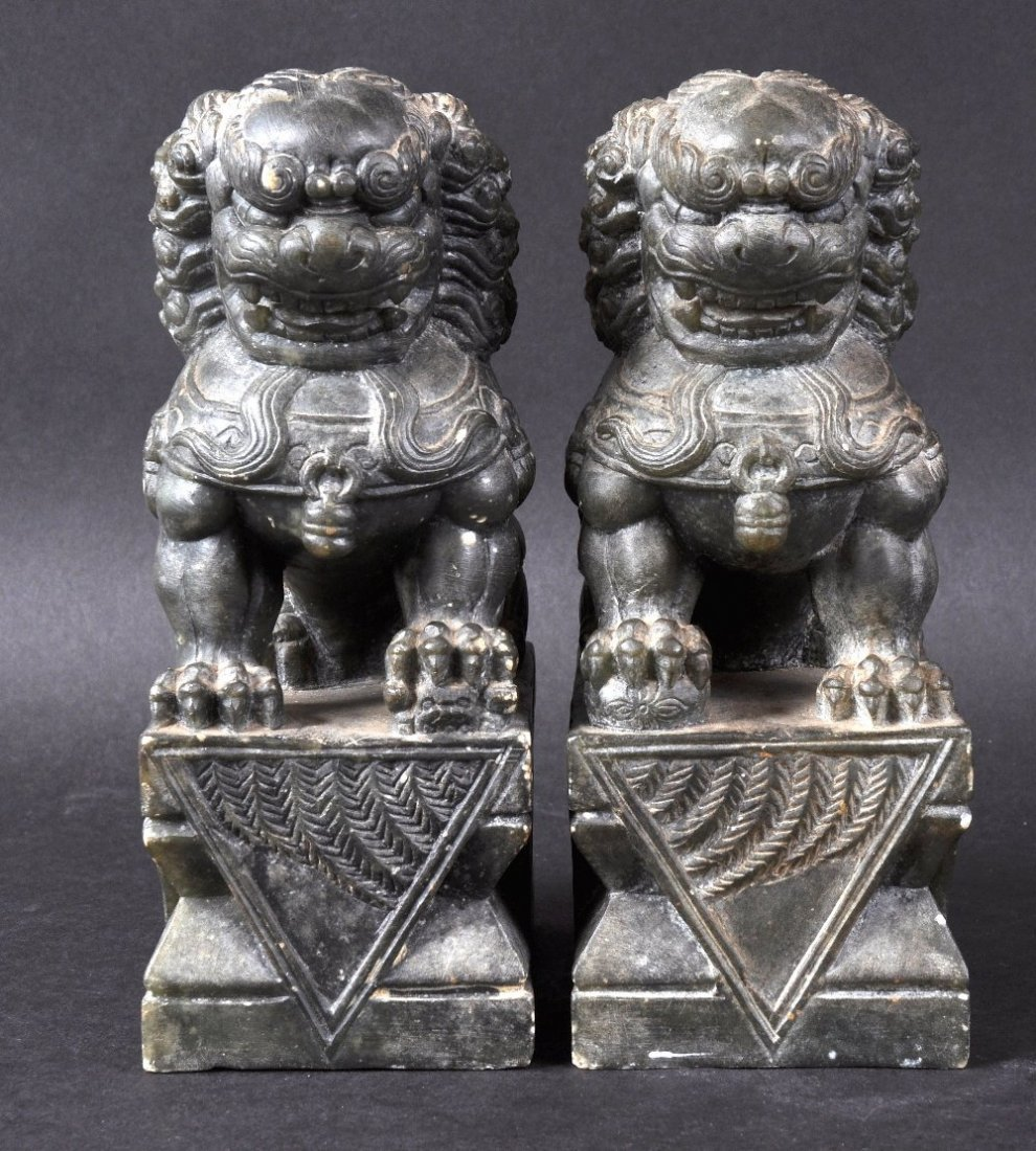 A PAIR OF LATE 19TH CENTURY CHINESE CARVED HARDSTONE