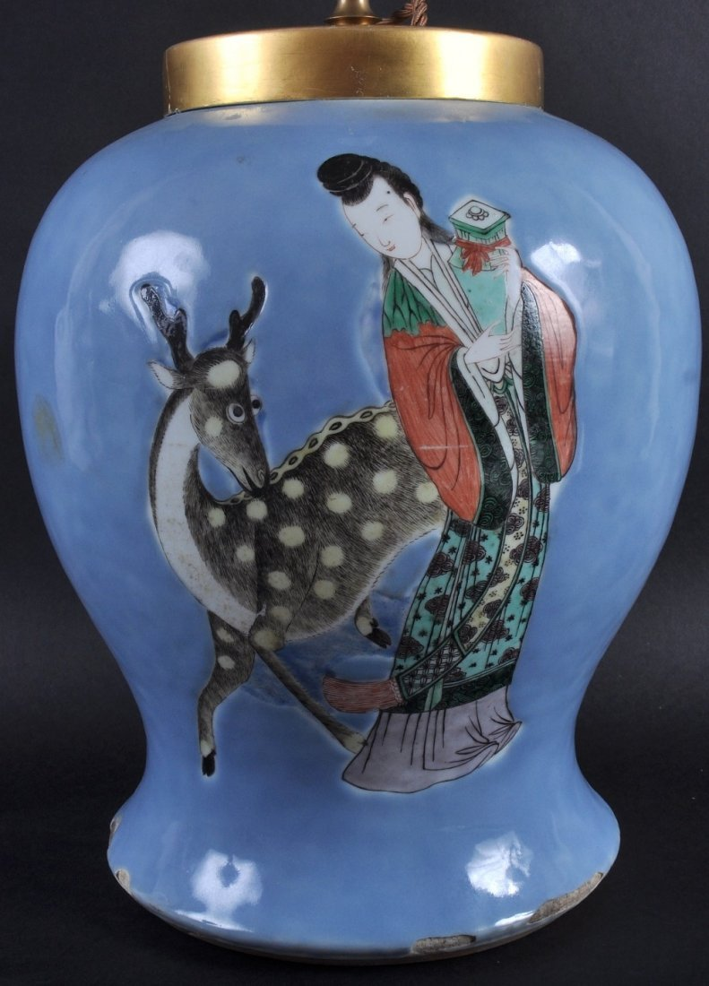 AN 18TH/19TH CENTURY CHINESE FAMILLE VERTE PORCELAIN