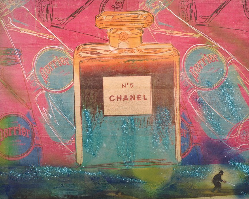 Pietro Psaier (1936-2004) Italian. 'Chanel and Water',